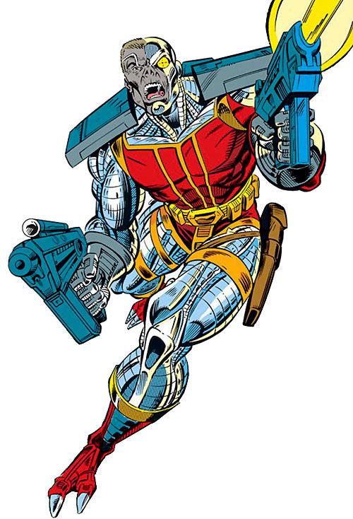 Deathlok (Michael Collins) (Marvel Comics) dual-wielding plasma pistols