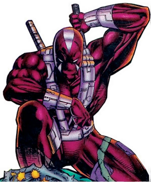 Deathtrap (Image Comics) with paired swords on his back