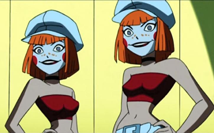 The Dee-Dee twins from the Jokerz in Batman Beyond