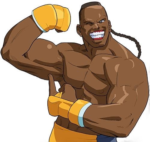 Dee Jay (Street Fighters) flexing
