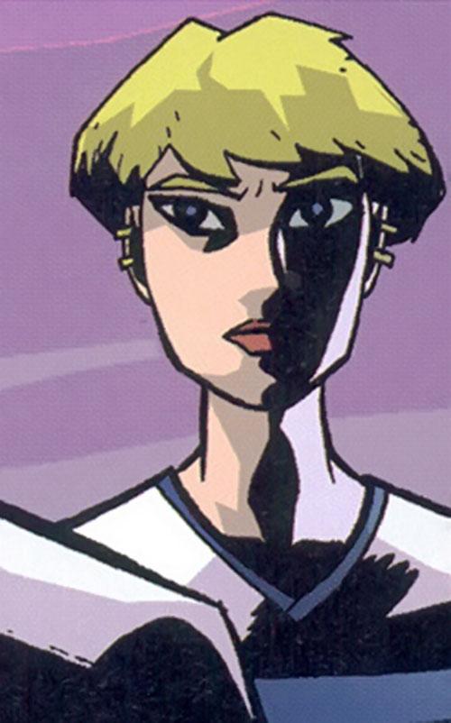 Deena Pilgrim (Powers comics) face closeup