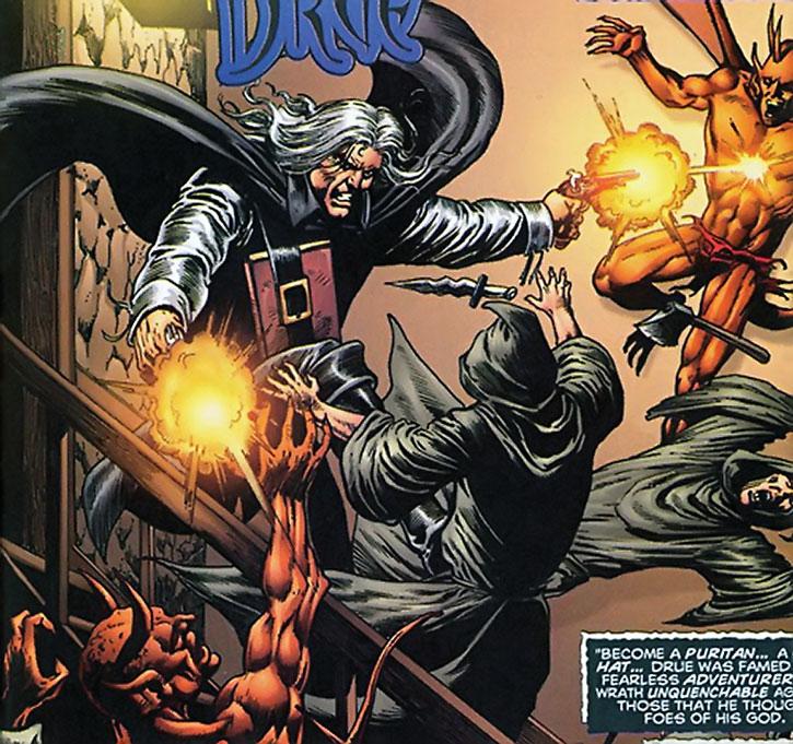 Deliverance Drue attacks a demon cult