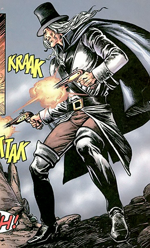Deliverance Drue the Puritan (Image Comics) firing paired pistols