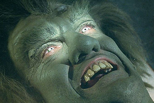 Frye's Creature (Incredible Hulk TV series enemy) glowing eyes