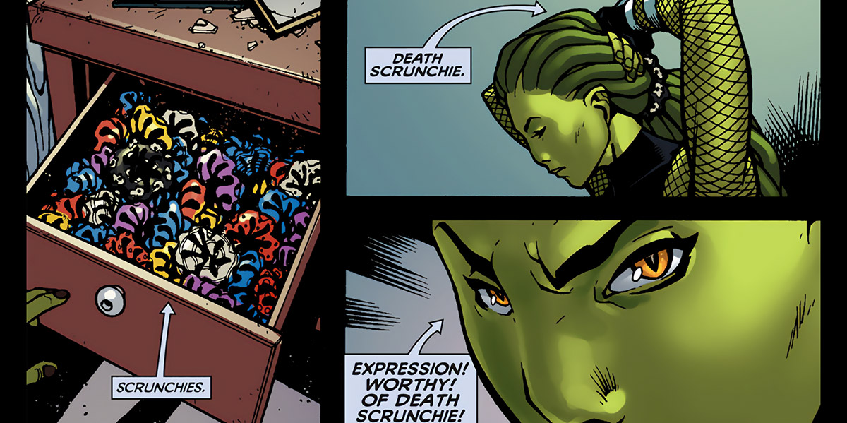 Delphyne Gorgon - Marvel Comics - Death scrunchie