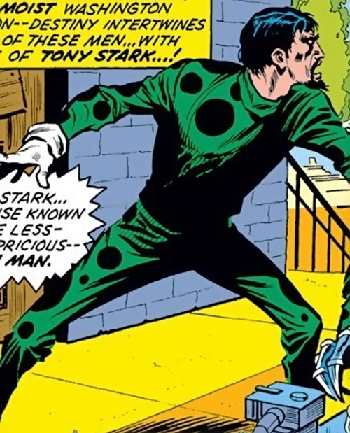 Demitrius (Iron Man enemy) (Marvel Comics) panicking