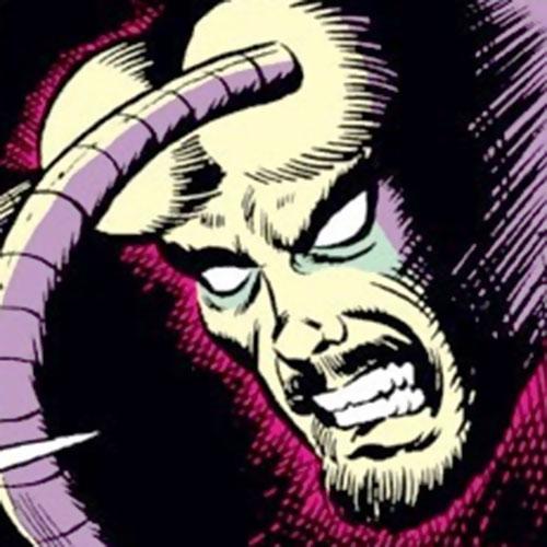 Demitrius (Iron Man enemy) (Marvel Comics) mutated face closeup
