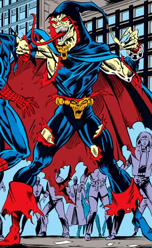 Demogoblin (Marvel Comics) vs. Spider-Man plus crowd