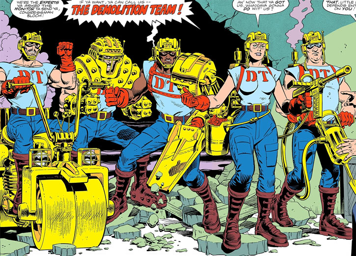 The Demolition Team (DC Comics) makes its entrance