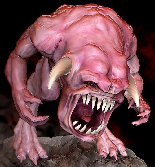 Doom demon sculpture by Eugene