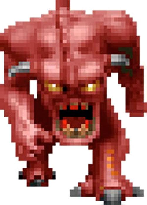 Doom demon video game sprite
