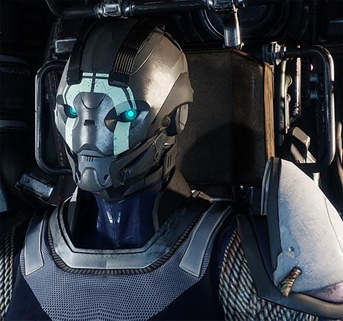 Destiny 2 video game TTRPG primer - Sample Exo Guardian portrait