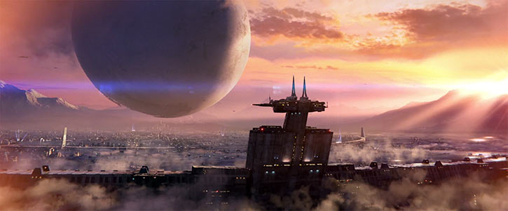 Destiny 2 video game TTRPG primer - Last City and the Traveller
