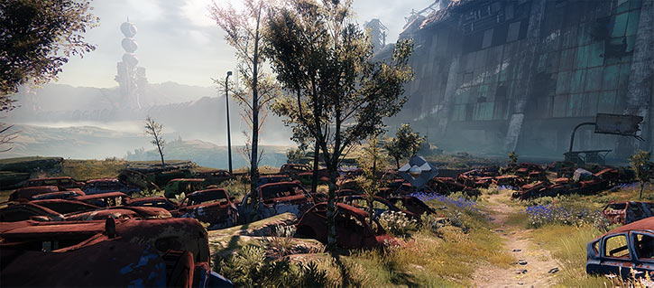 Destiny 2 video game TTRPG primer - Cosmodrome outside wrecks