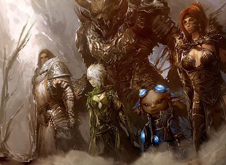 Guild Wars 2 - Destiny's Edge splash screen art painting