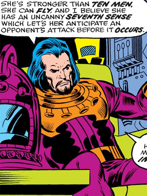 Destructor (Ms. Marvel comics enemy) sitting
