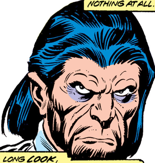 Destructor (Ms. Marvel comics enemy) Korman face closeup