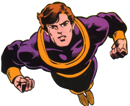 Dev-Em (Legion of Super-Heroes) (DC Comics) in flight