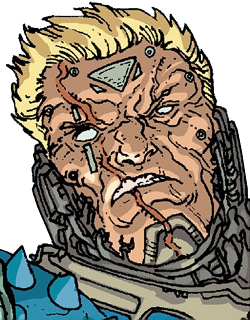 Devos the Devastator (Marvel Comics) without his helmet