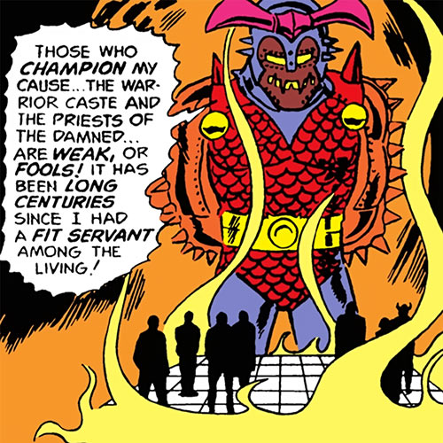 Dgrth (Stalker / Wonder Woman enemy) (DC Comics) rambling in hell