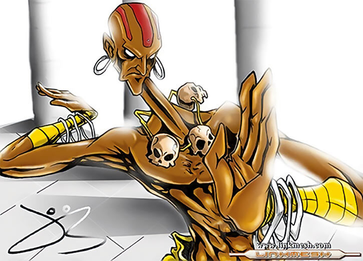 Dhalsim stretching his neck