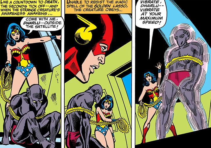 Dharlu (DC Comics) (1970s Justice League of America) and Wonder Woman