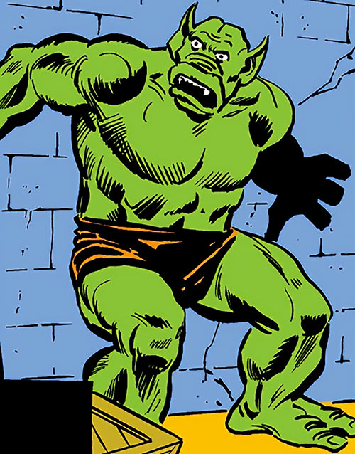 Diable (Captain America / Spider-Man enemy) (Marvel Comics) in his orange trunks
