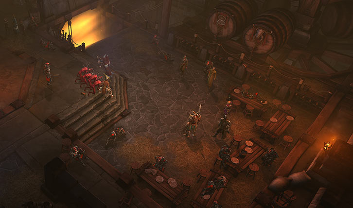 Diablo 3 - Bastion Keep's main room during the siege