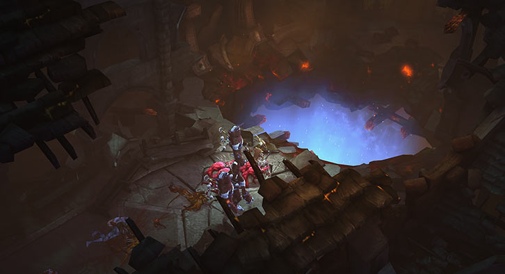 Diablo 3 - Strange crater at the Tristram Cathedral