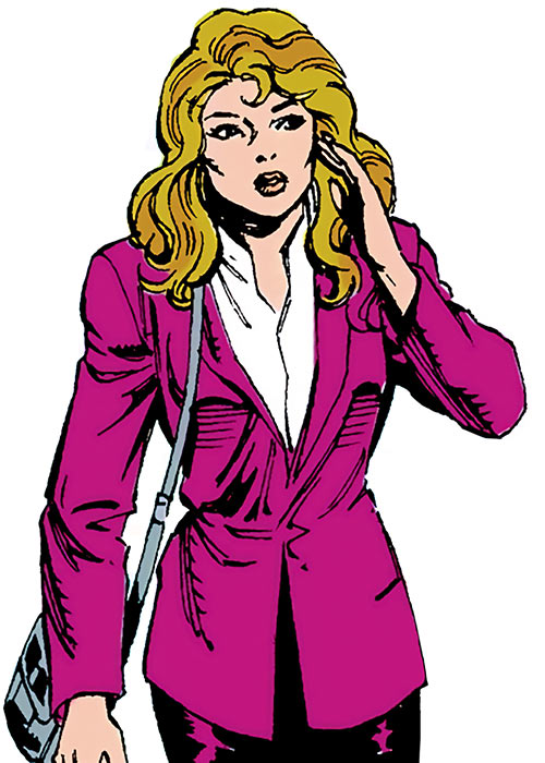 Diamondback (Rachel Leighton) (Captain America ally) (Marvel Comics) Classic in a purple suit