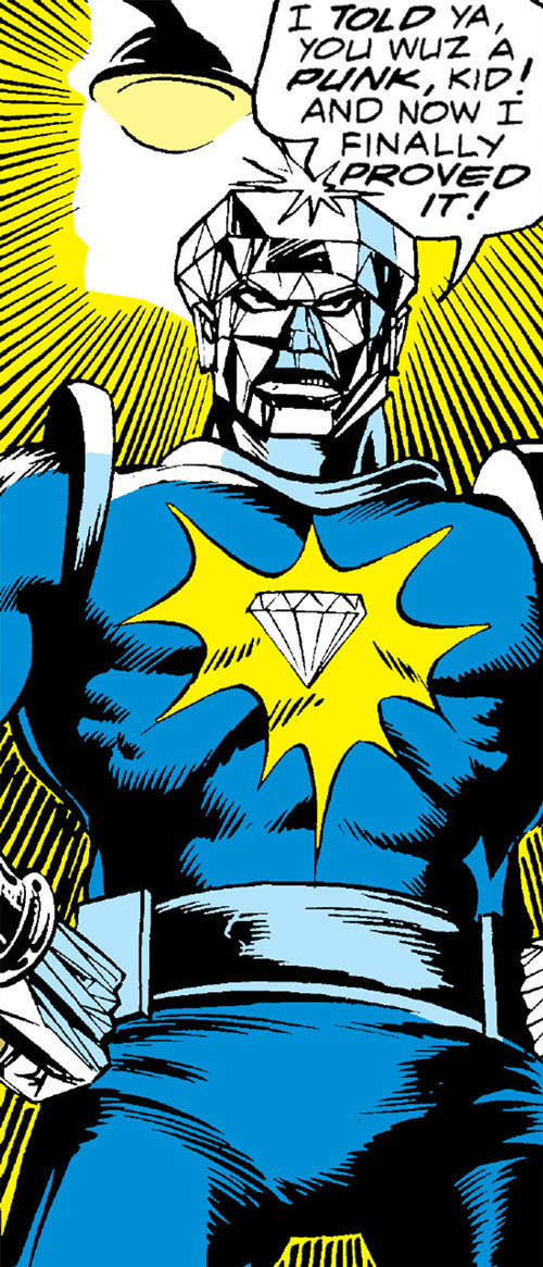 Diamondhead (Nova enemy) (Marvel Comics) being threatening