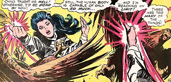 Diana Prince (Wonder Woman) fights birds of prey