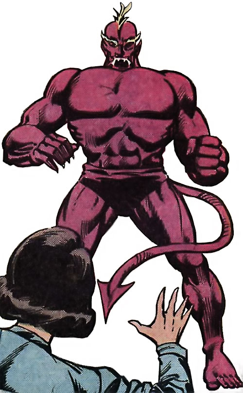 Dibbuk (Ruby Thursday ally) (Omega the Unknown enemy) (Marvel Comics)