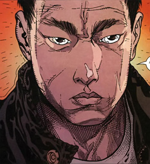 Rush (Diego Zhao) (DC Comics) determined face closeup