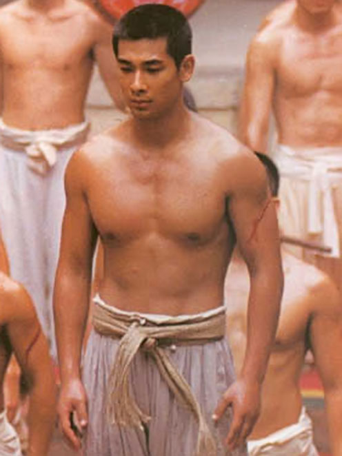 Ding On (Man Cheuk Chiu in The Blade) bare-chested