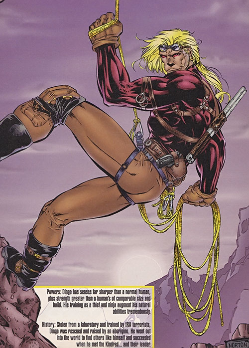 Dingo (Wildstorm Comics) (Backlash ally) climbing