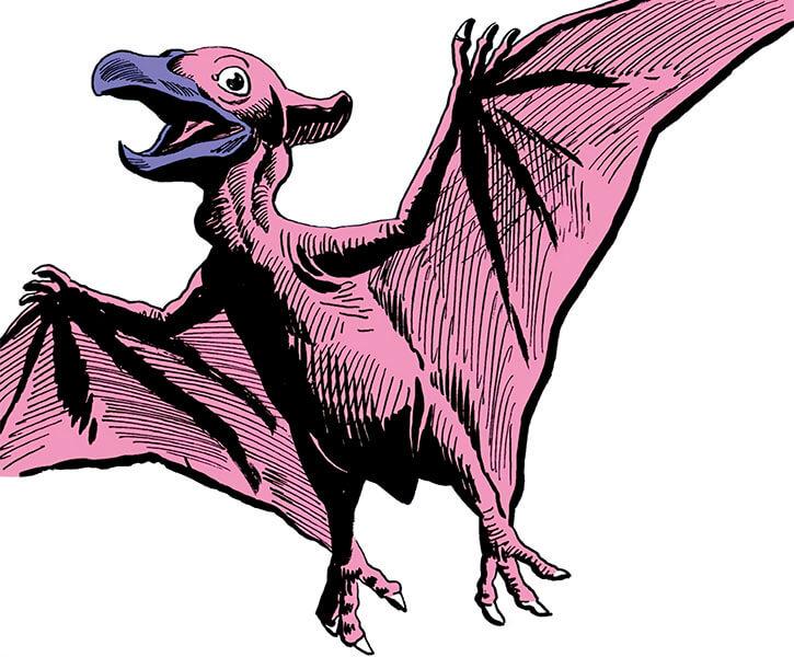 Dino soars (DC Comics) (War that time forgot) pink pterosaur