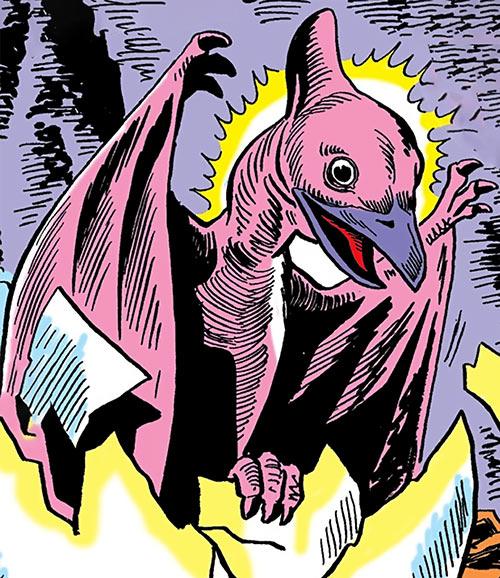 Dino the baby pterosaur (DC Comics) (War that Time Forgot)