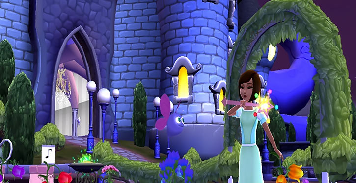 Disney Princess: My Fairytale Adventure screenshot courtyard