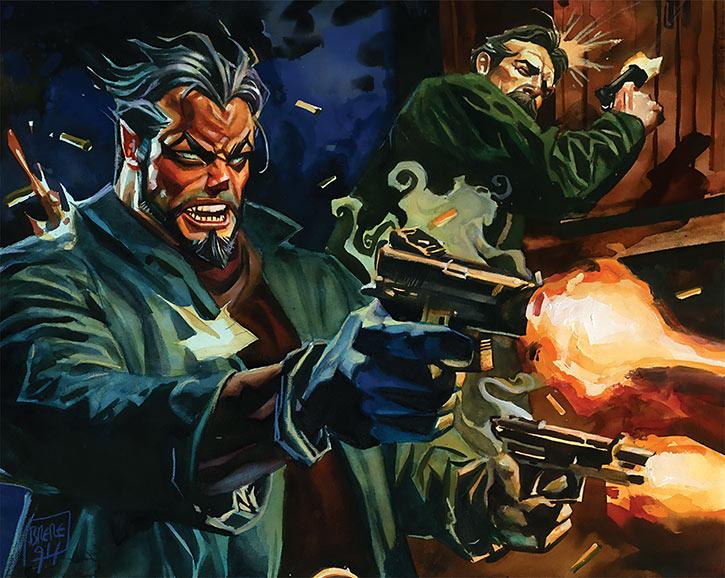Doc Horror of the Nocturnals (Dan Brereton comics) .45 gunfight