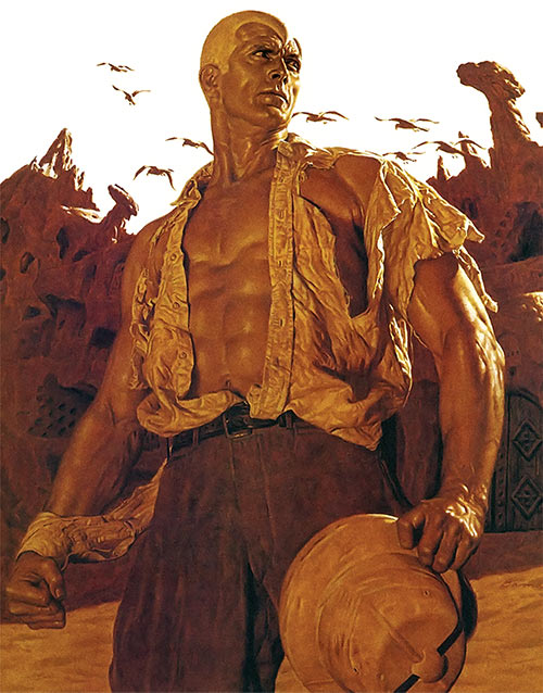 Doc Savage by James Bama - Cover detail