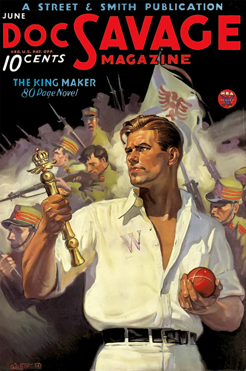 Doc Savage pulps magazine cover Kingmaker