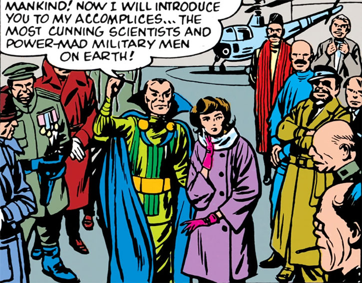 Doctor Carlo Strange (Marvel Comics) (Tales of Suspense) his daughters and his allies