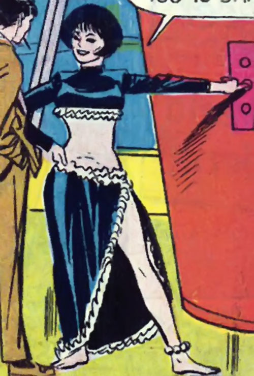Doctor Cyber (Wonder Woman enemy) (DC Comics) in lounge wear