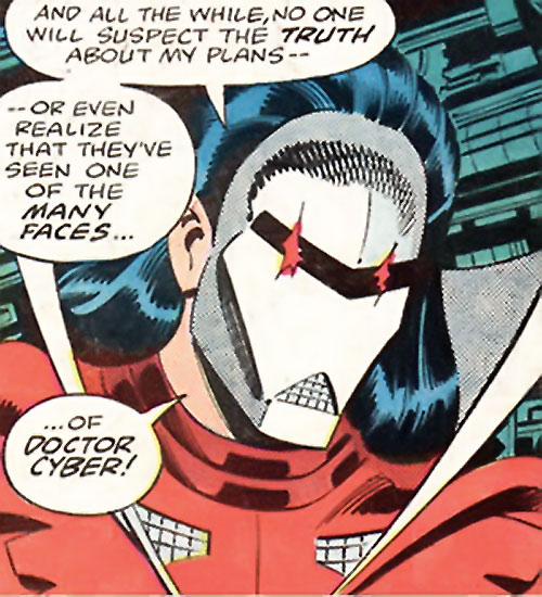 Doctor Cyber (Wonder Woman enemy) (DC Comics) - white robot-like mask