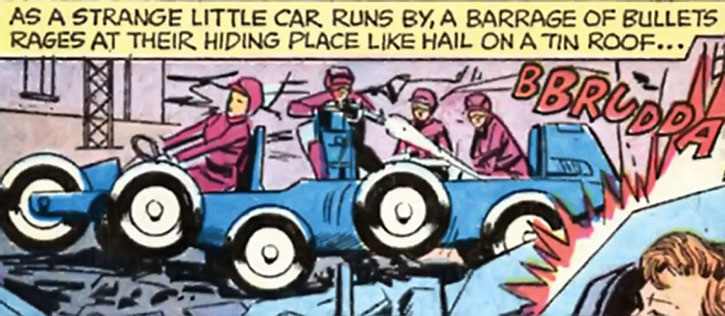 """Doctor Cyber's agents aboard a """"centicar"""""""