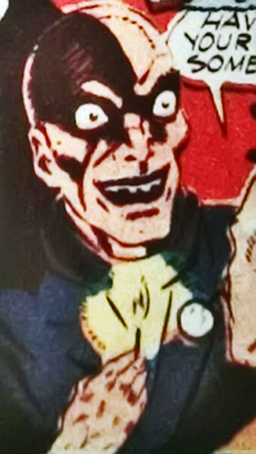 Doctor Death's ghastly face