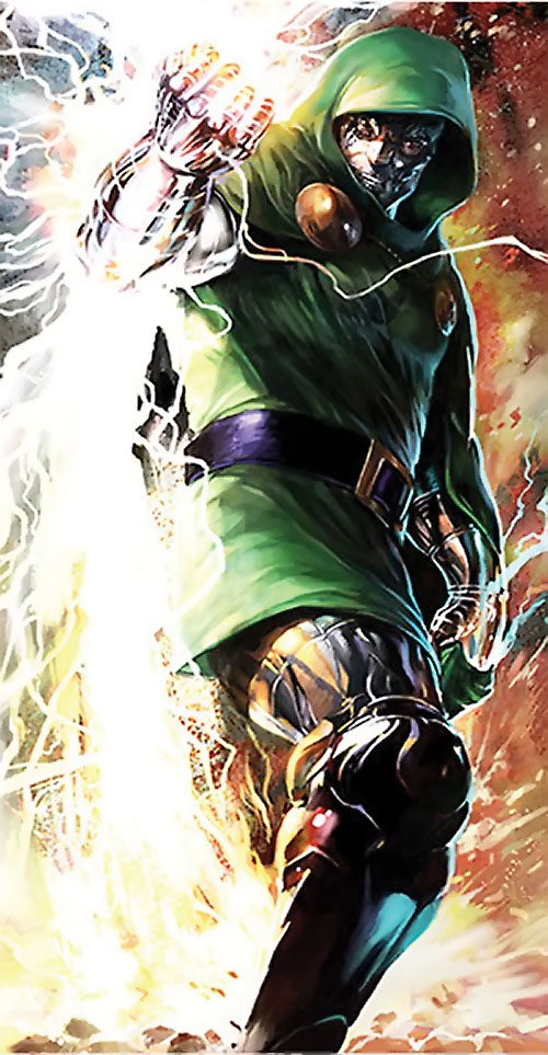 Doctor Doom (Fantastic 4 enemy) (Marvel Comics) and lightning