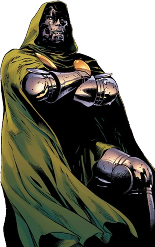 Doctor Doom (Fantastic 4 enemy) (Marvel Comics) with arms crossed