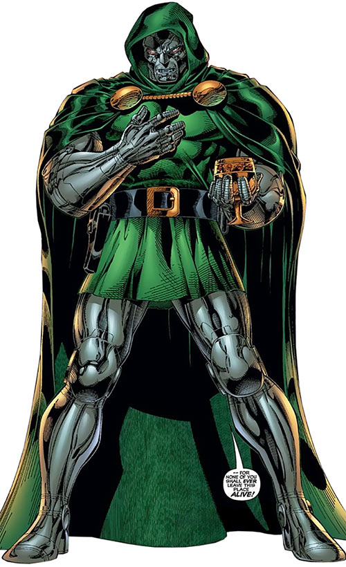 Doctor Doom (Fantastic 4 enemy) (Marvel Comics) with a medieval cup